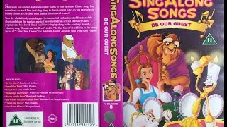 Sing Along Songs Be Our Guest Uk Vhs 1993