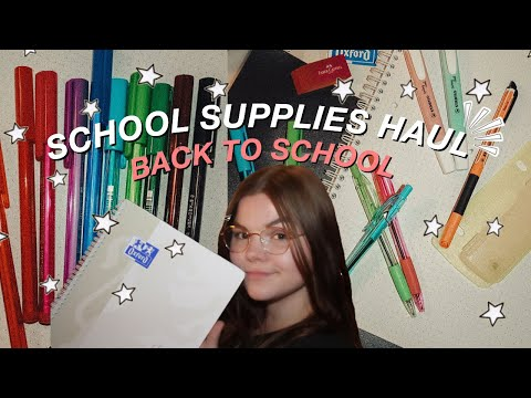 SCHOOL SUPPLIES HAUL ☆ Back To School 2020 I Selina Marie 💗