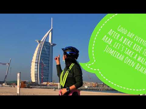 Let's bike to #Burj Al Arab and take an early morning walk along Jumeirah Open Beach (Part 1)