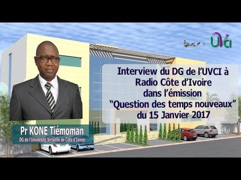 Interview dg radio Côte d'Ivoire question des temps nouveaux