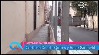 Corte en Duarte Quirós y Velez Sarsfield