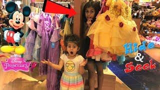 Hide And Seek at the Disney store!! family fun