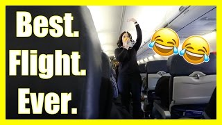 The FUNNIEST Southwest Airlines Flight Attendant EVER