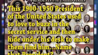 TIME OUT FOR TRIVIA- US PRESIDENTS