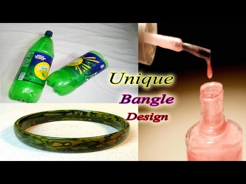 Make A Bangle using Plastic bottle And Nail Polish | Best Out Of Waste Ideas | Jewellery Making