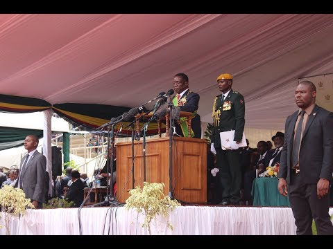 Mnangagwa, African Heads Of state exit Stadium after Inuguration