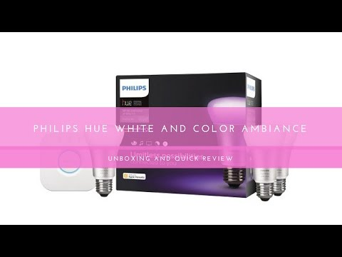 Philips Hue white and color starter kit unboxing and quick review
