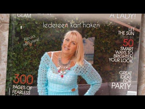 Iedereen kan haken© Blue curacao truitje leren haken, Nederlands voor beginners