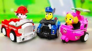 Learn Colors with Paw Patrol Toys. Cars for children. Мультики про машинки - Щенячий патруль