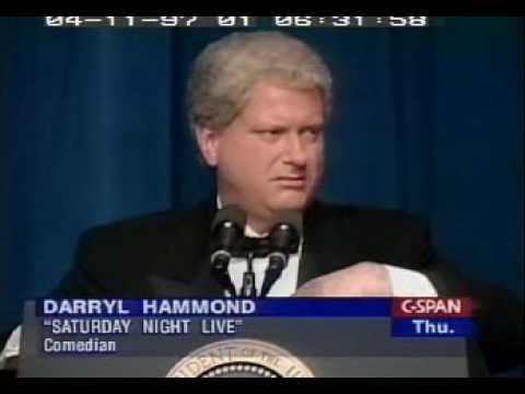 Bill Clinton with Darrell Hammond