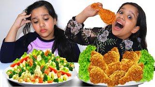 شفا تعليم المشاركة !!! Pretend Play eat Healthy Food for Kids | Funny Kids Video