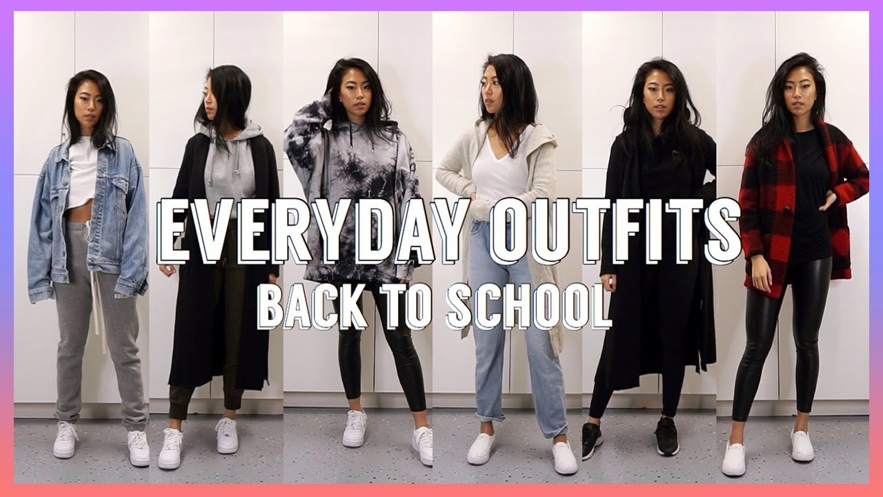 WINTER OUTFITS OF THE WEEK FOR SCHOOL | How To Style Sneakers 2