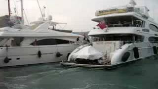 yacht crashes caught on tape