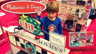 Melissa & Doug Deluxe Star Diner Restaurant For Kids 4 Years Old Testing & Playing