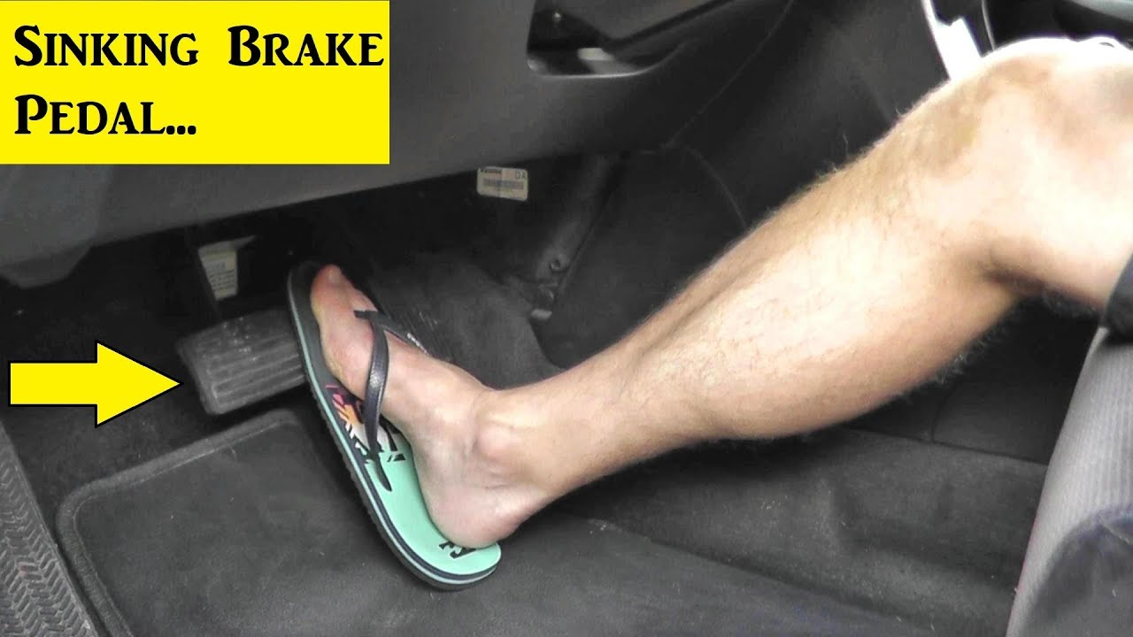 How To Test And Fix A Sinking Brake Pedal Youtube