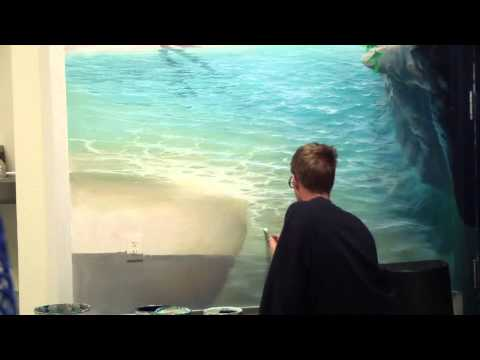 Clip from 39 how to paint grass hills 39 with mural joe doovi for Mural joe painting