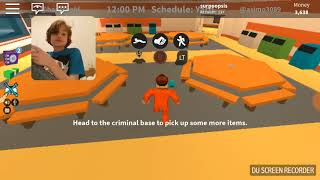 Playing roblox jailbreak with a ps4 dulshock controller part 1 (sorry phone stopped recording )