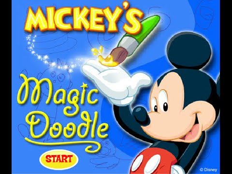 Mickey Mouse Online Games Mickey S Magic Doodle Game Paint And Color Games Youtube