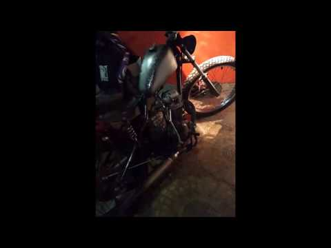 Honda Tiger 200cc Twin Ports Bobber Sound