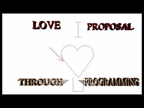 Love proposal through programming language ( C language)