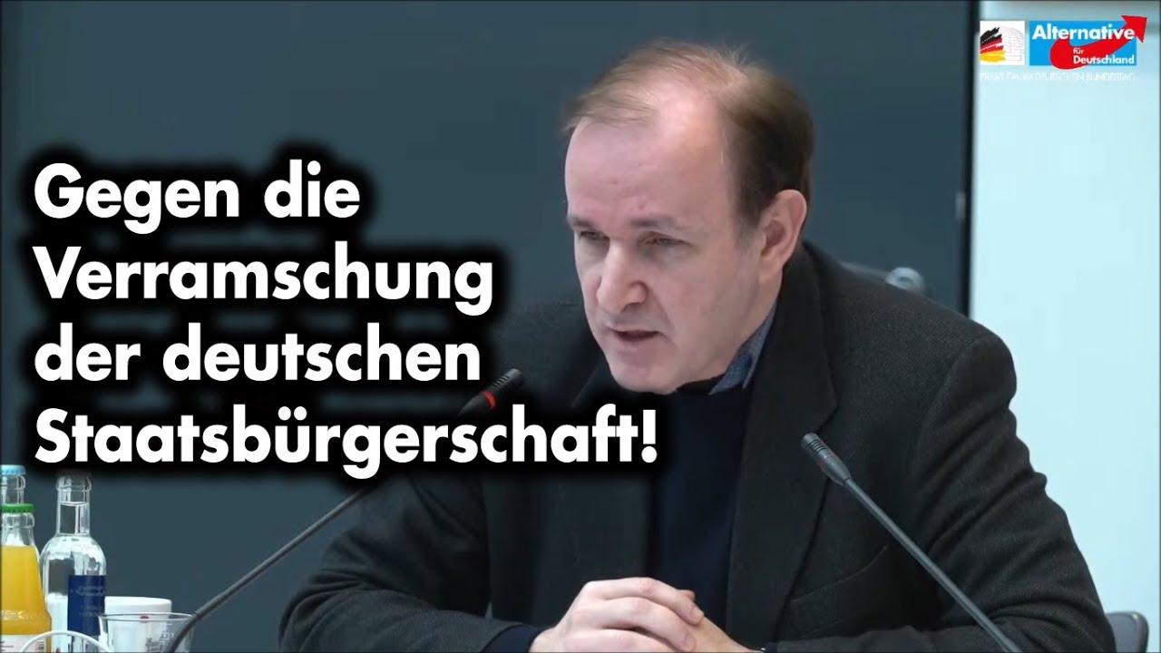 Der Ausverkauf der deutschen Staatsbürgerschaft muß beendet werden! | Dr. Gottfried Curio