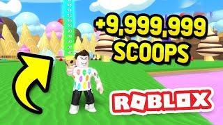 EATING +9,999,999 ICE CREAM in ROBLOX