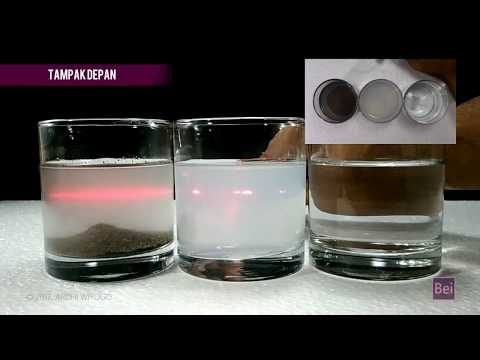 Tyndall Effect Experiment (Sifat Koloid - Percobaan Efek Tyndall)