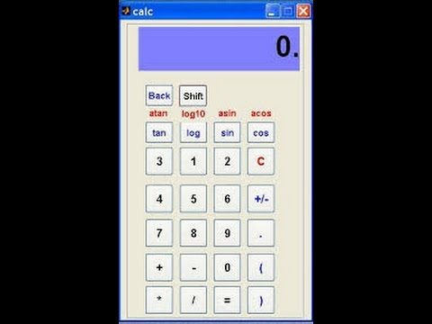 Matlab Project Code: GUI Based Calculator