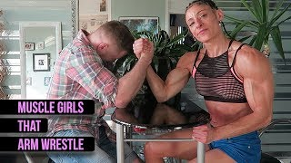 Muscle Girls That Arm Wrestle!