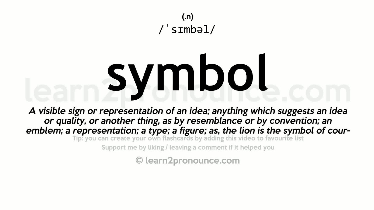 Symbol Pronunciation And Definition Youtube
