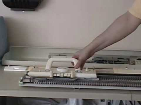Brother Knitting Machine Set Up Youtube