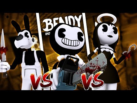 Minecraft BENDY AND THE INK MACHINE VS BORIS VS ALICE ANGEL!! - WHO IS THE SCARIEST EVIL CHARACTER??