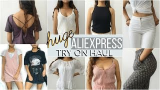 HUGE ALIEXPRESS TRY ON HAUL (Cheap and affordable clothing)