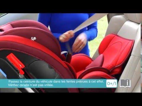 Installation du siège-auto groupes 0+, 1, 2 et 3 EVERY STAGE de JOIE -  YouTube 4695b95521f5
