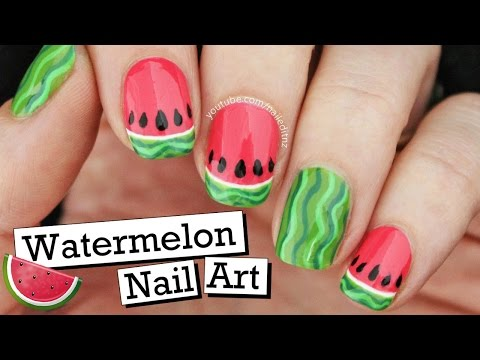 Cute Watermelon Nail Art! | Summer Fruit Series