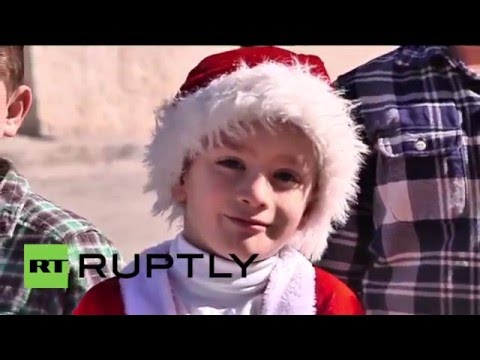 State of Palestine: Orthodox Christmas parade held through Bethlehem