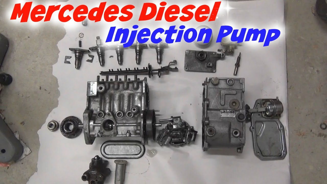 mercedes diesel injection pump teardown youtube. Black Bedroom Furniture Sets. Home Design Ideas