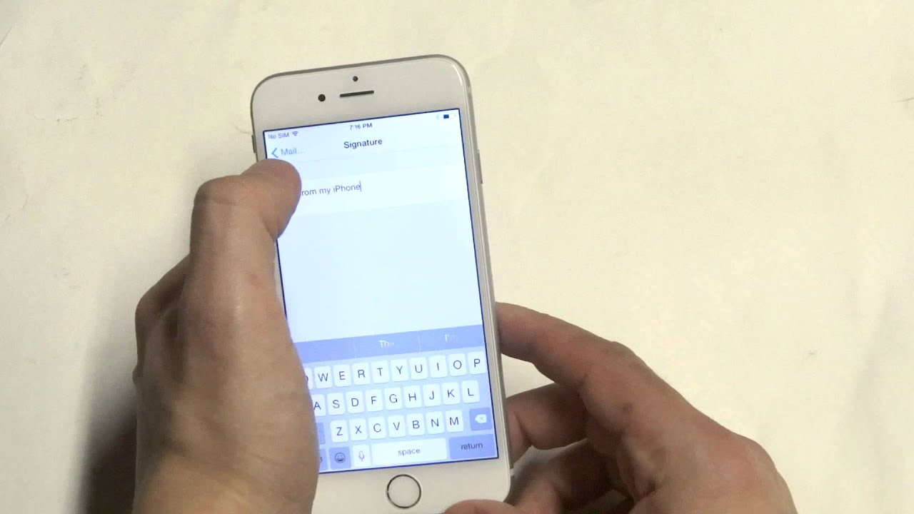 Apple Iphone 6: How To Change Email Signature - Fliptroniks.com