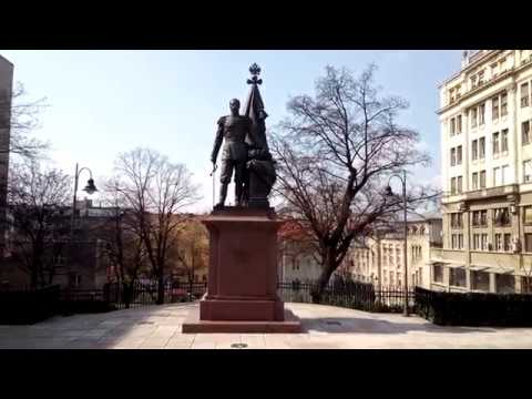 The Monument to Russian Emperor (Tsar) Nikolai II Romanov - Belgrade, Serbia