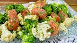Sałatka z kalafiorem, brokułem i pomidorem - Jak zrobić - [Smakowite Dania]