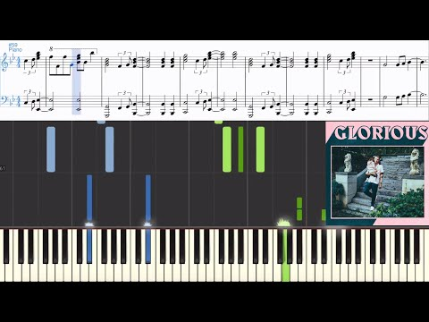 Macklemore ft. Skylar Grey - Glorious (Synthesia Piano Tutorial w/Lyrics)