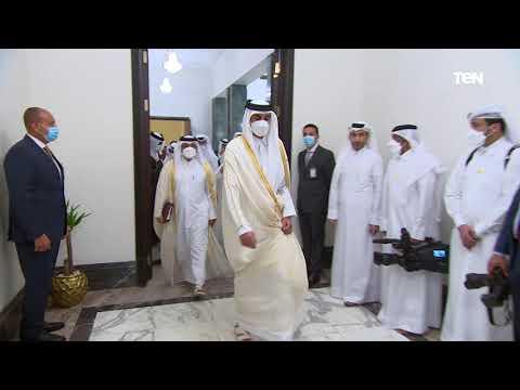 الرئيس السيسي يلتقي بأمير قطر ورئيس الوزراء الكويتي في العاصمة العراقية بغداد