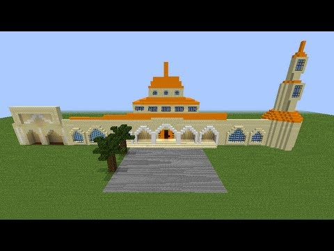 Minecraft Masjid -Grand Strand Islamic Society- Part 1 (Timelapse )