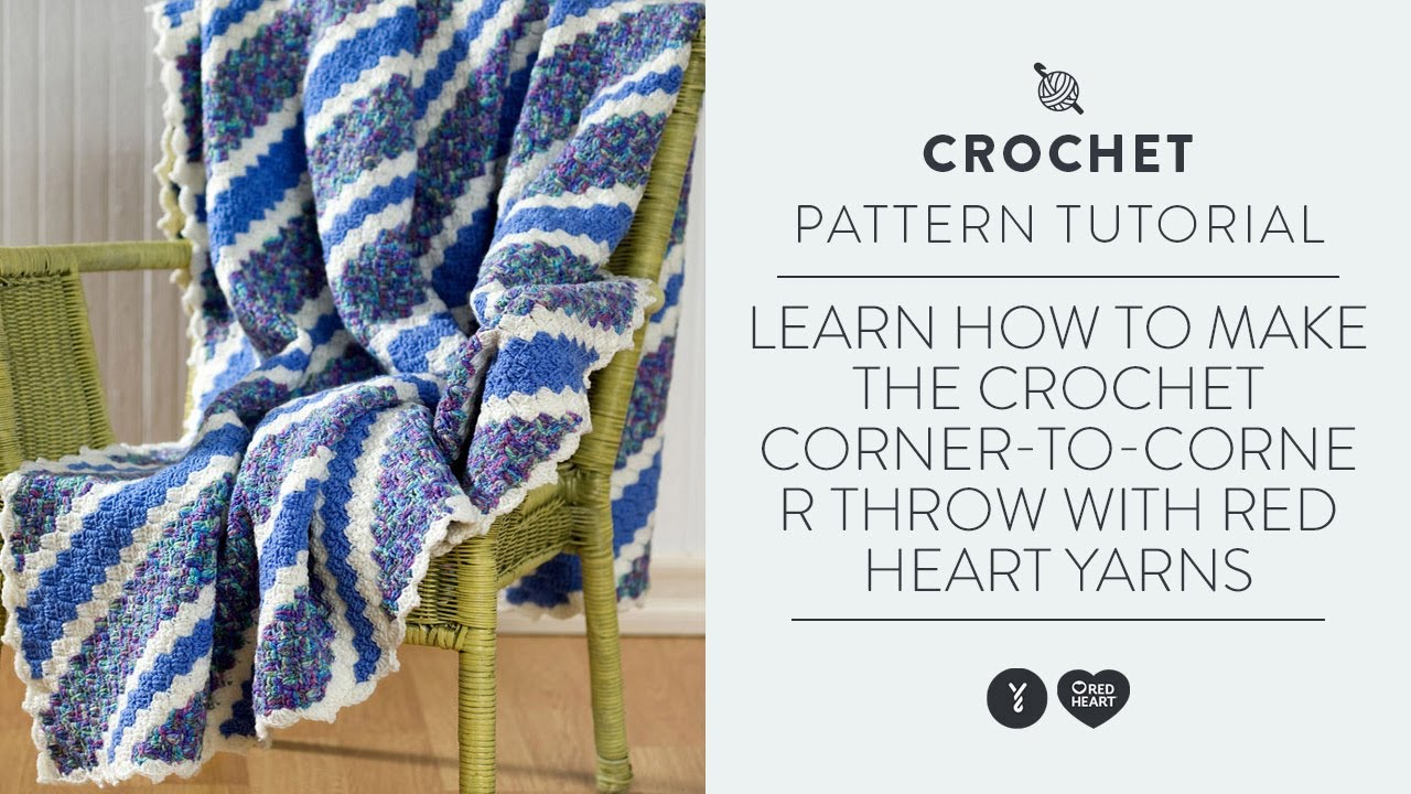 Learn How To Make The Crochet Corner To Corner Throw With