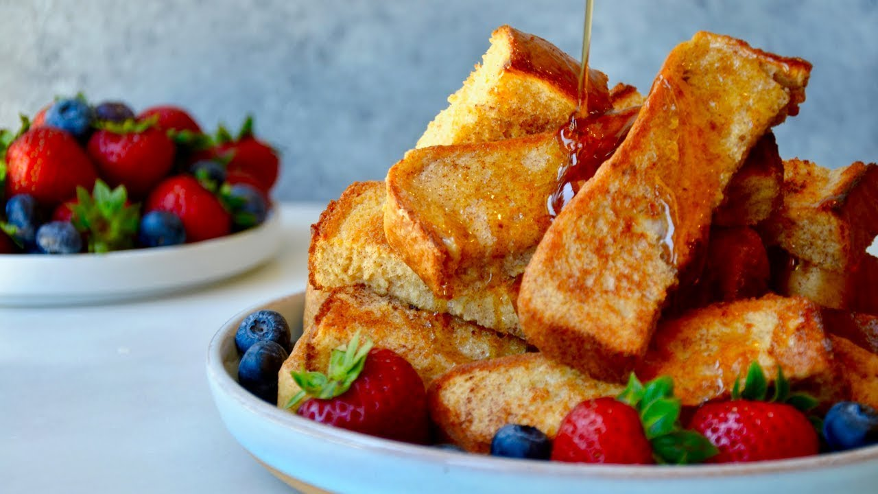 Baked French Toast Sticks - YouTube
