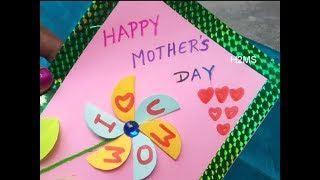 How to make simple  easy Mothers day greeting card at home DIY paper craft Greeting card making