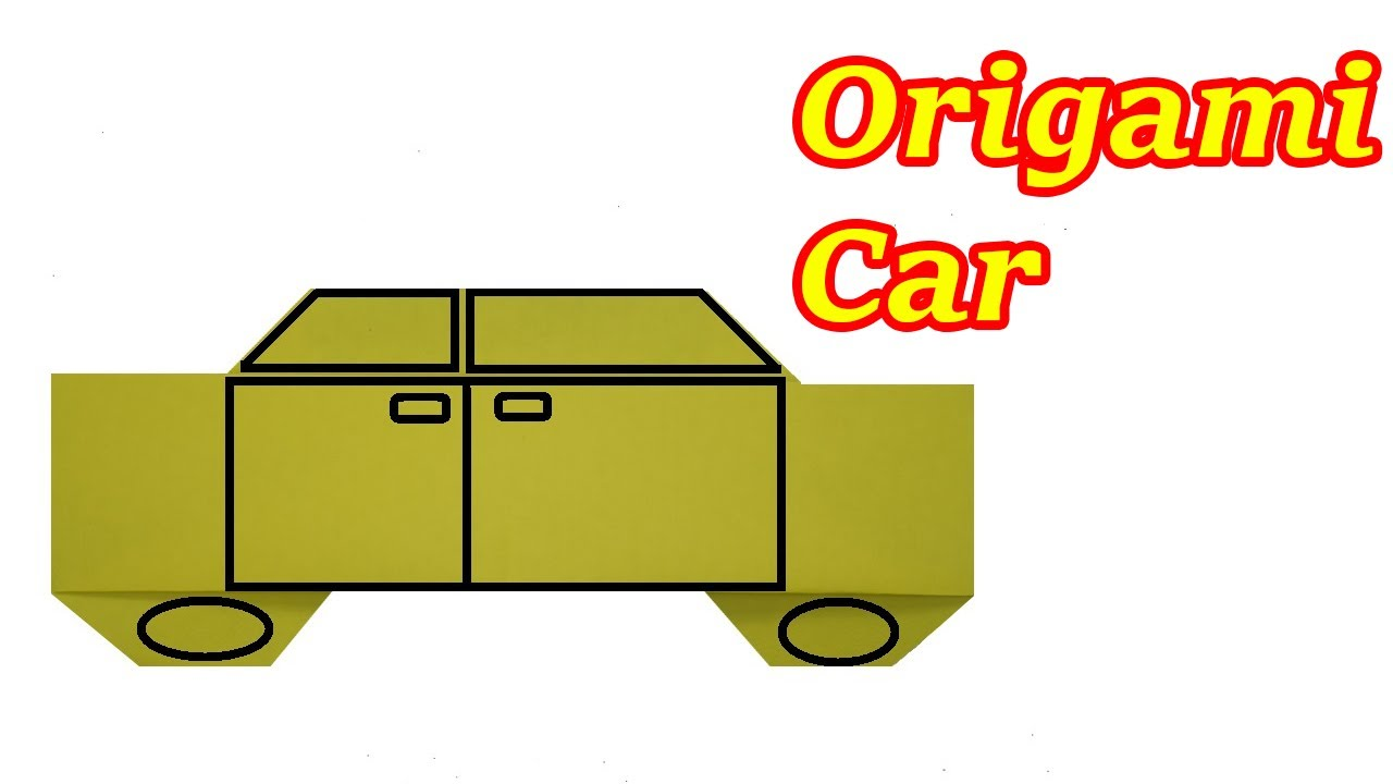 how to make a paper car for kids origami car origami