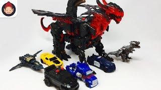 Transformers Toys The Last Knight 1 Step Turbo Changers DragonStorm Megatron Grimlock Berserker Toys