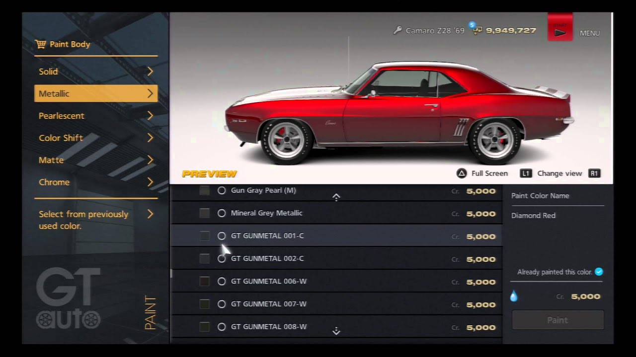 GT Which Color For This Camaro Z YouTube - 1969 camaro paint codes colors