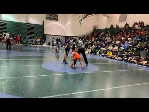 Cash's first match at Rio Rancho Middle School dual tournament 1/11/2020